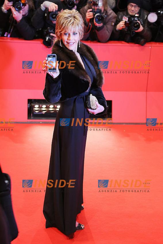 Jane Fonda. Berlin 08/02/2013. 63th Berlinale 'The Promised Land' Premiere . foto Mark Cape/Insidefoto