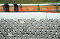 Policemen look on before the game. Italy defeated USA 3-1 during the FIFA Confederations Cup at Loftus Versfeld Stadium, in Tshwane/Pretoria South Africa on June 15, 2009.