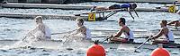 Rotterdam. Netherlands.   Junior SEMI FINAL A/B, USA JM4X. start. at the  2016 JWRC, U23 and Non Olympic Regatta. {WRCH2016}  at the Willem-Alexander Baan.   Saturday  27/08/2016 <br /> <br /> [Mandatory Credit; Peter SPURRIER/Intersport Images]