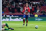 Atletico de Madrid Antoine Griezmann celebrating a goal during La Liga match between Atletico de Madrid and Leganes at Wanda Metropolitano Stadium in Madrid , Spain. February 28, 2018. (ALTERPHOTOS/Borja B.Hojas)