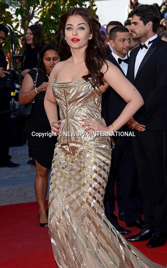 AISHWARYA RAI<br /> attends the &quot;Deux Jour, Une Nuit&quot; screening at the 67th Cannes Film Festival, Cannes<br /> Mandatory Credit Photo: &copy;NEWSPIX INTERNATIONAL<br /> <br /> **ALL FEES PAYABLE TO: &quot;NEWSPIX INTERNATIONAL&quot;**<br /> <br /> IMMEDIATE CONFIRMATION OF USAGE REQUIRED:<br /> Newspix International, 31 Chinnery Hill, Bishop's Stortford, ENGLAND CM23 3PS<br /> Tel:+441279 324672  ; Fax: +441279656877<br /> Mobile:  07775681153<br /> e-mail: info@newspixinternational.co.uk