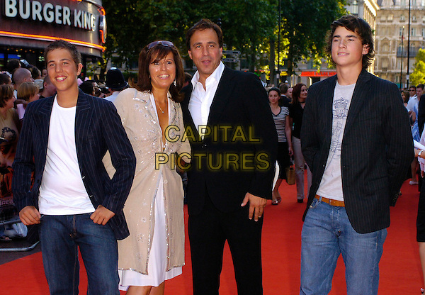 "ANTHONY HOROWITZ & FAMILY.The ""Stormbreaker"" world premiere at Vue West End, London, UK..July 17th, 2006.Ref: CAN.half length kids children father black suit jacket.www.capitalpictures.com.sales@capitalpictures.com.©Capital Pictures"