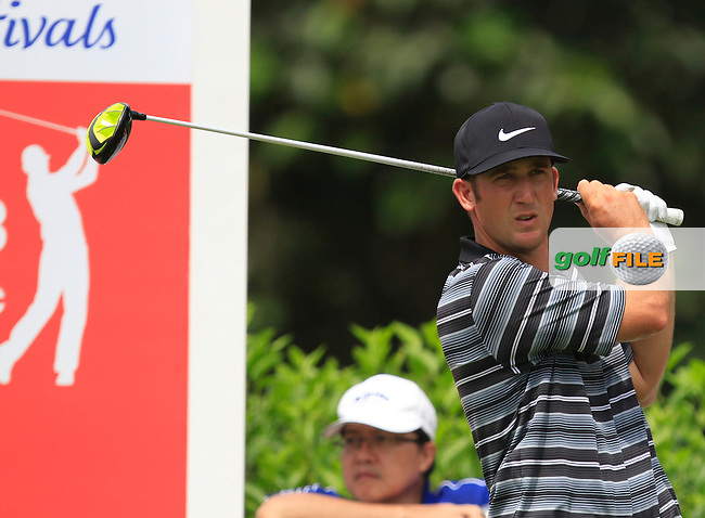 Kevin Chappell (USA) on the 7th tee during Round 4 of the CIMB Classic in the Kuala Lumpur Golf &amp; Country Club on Sunday 2nd November 2014.<br /> Picture:  Thos Caffrey / www.golffile.ie