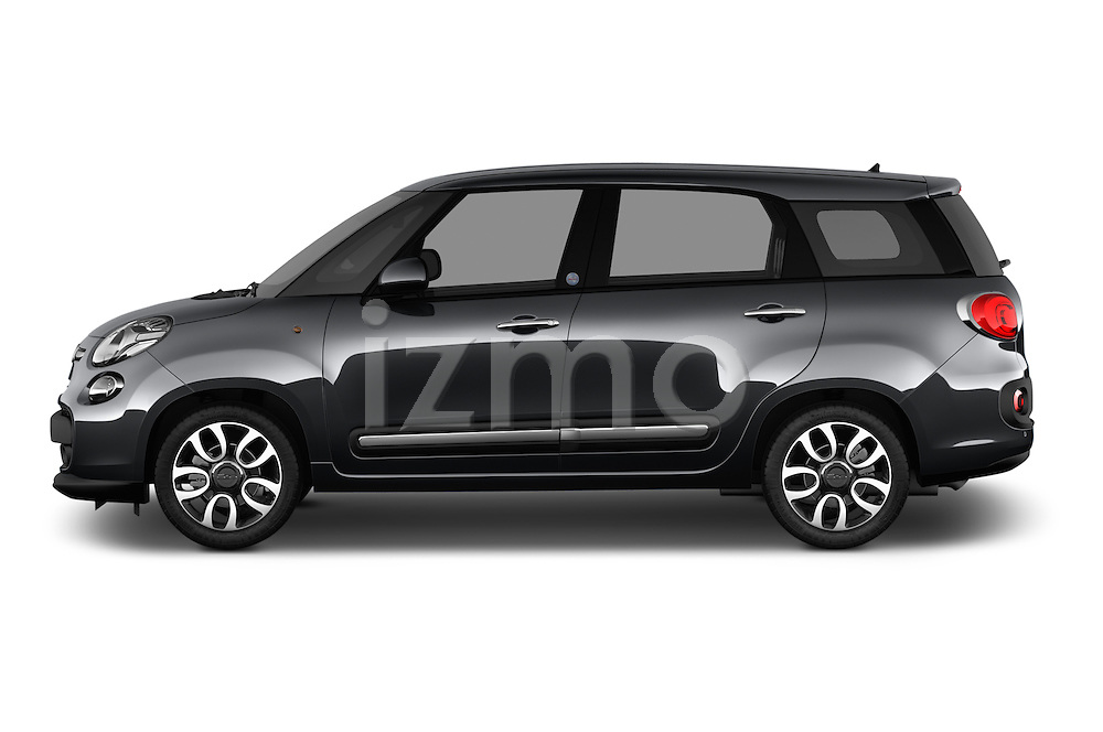 Car Driver side profile view of a 2016 Fiat 500L Living Popstar 5 Door Mini MPV Side View