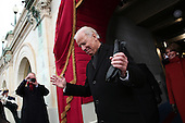 United States Vice President Joe Biden arrives during the presidential inauguration on the West Front of the U.S. Capitol January 21, 2013 in Washington, DC.   Barack Obama was re-elected for a second term as President of the United States.       .Credit: Win McNamee / Pool via CNP