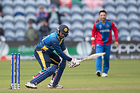 Lasith Malinga (Sri Lanka) is bowled by Dawlat Zadran (Afghanistan) during Afghanistan vs Sri Lanka, ICC World Cup Cricket at Sophia Gardens Cardiff on 4th June 2019