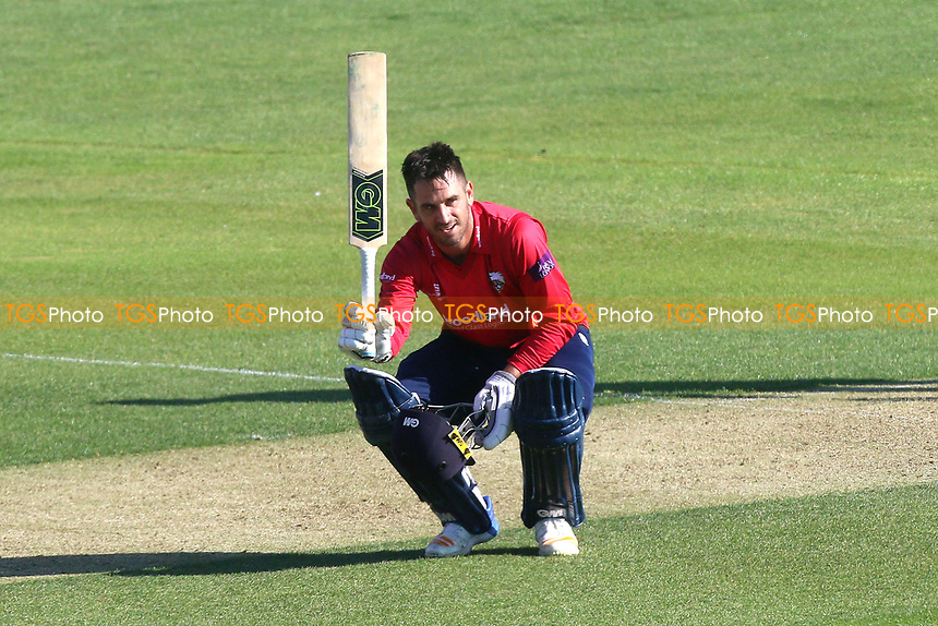 Ryan ten Doeschate of Essex celebrates scoring a century, 100 runs during Essex Eagles vs Sussex Sharks, Royal London One-Day Cup Cricket at The Cloudfm County Ground on 10th May 2017