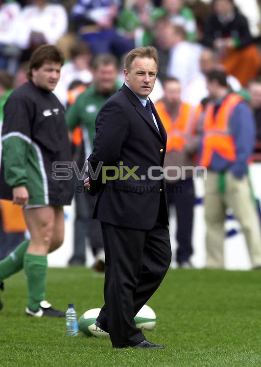 Pix: Matthew Lewis/SWpix.com. International Rugby Union. The RBS Six Nations. Ireland v England. 30/03/03..COPYRIGHT PICTURE>>SIMON WILKINSON>>01943 436649>>..Ireland's coach Eddie O'Sullivan.