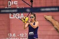 27th June 2020, Dusseldorf, Germany; The German Beach Volleyball League;  Sarah Overlaender