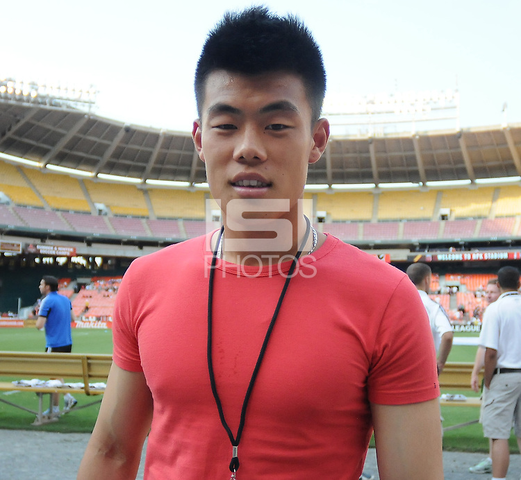 D.C. United forward Tan Long. D.C. United defeated Montreal Impact 3-0 at RFK Stadium, Saturday June 30, 2012.