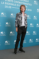 "VENICE, ITALY - SEPTEMBER 07: Mick Jagger attends ""The Burnt Orange Heresy"" photocall during the 76th Venice Film Festival at Sala Grande on September 07, 2019 in Venice, Italy. (Photo by Mark Cape/Insidefoto)<br /> Venezia 07/09/2019"
