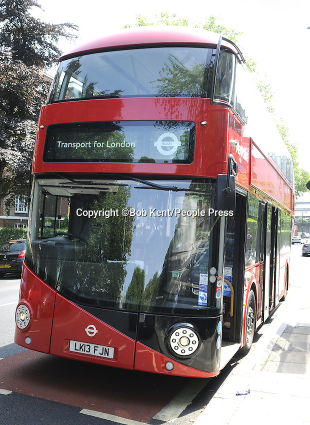New Transport for London Bus which will serve route 24 from Pimlico to Hampstead from 17th June 2013.This is the first route in the Capital to operate entirely with the new buses. London - 19th June 2013<br /> <br /> Photo by Bob Kent