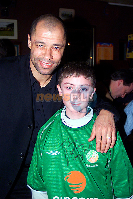 Paul McGrath with Gary Reay at the opening night of Mother Hughes,..Pic Tony Campbell/Newsfile