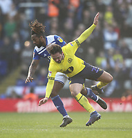 Blackburn Rovers Bradley Dack battles with  Birmingham City's Jacques Maghoma<br /> <br /> Photographer Mick Walker/CameraSport<br /> <br /> The EFL Sky Bet Championship - Birmingham City v Blackburn Rovers - Saturday 23rd February 2019 - St Andrew's - Birmingham<br /> <br /> World Copyright © 2019 CameraSport. All rights reserved. 43 Linden Ave. Countesthorpe. Leicester. England. LE8 5PG - Tel: +44 (0) 116 277 4147 - admin@camerasport.com - www.camerasport.com
