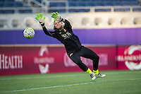Orlando, Florida - Sunday, May 14, 2016: Western New York Flash goalkeeper Sabrina D'Angelo (1) warms up prior to a National Women's Soccer League match between Orlando Pride and New York Flash at Camping World Stadium.