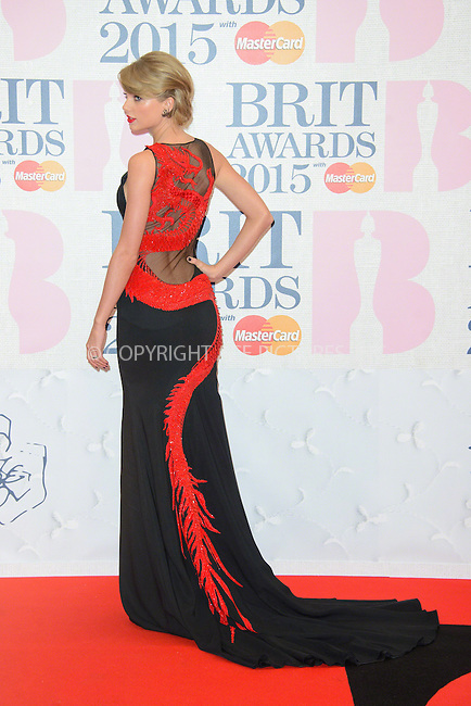 WWW.ACEPIXS.COM<br /> <br /> February 25 2015, London<br /> <br /> Taylor Swift arriving at the Brit awards 2015 at the O2 Arena on February 25 2015 in London<br /> <br /> By Line: Famous/ACE Pictures<br /> <br /> <br /> ACE Pictures, Inc.<br /> tel: 646 769 0430<br /> Email: info@acepixs.com<br /> www.acepixs.com