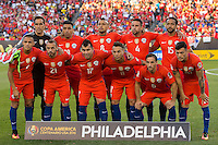 Photo before the match Chile vs Panama, Corresponding to Group -D- America Cup Centenary 2016 at Lincoln Financial Field.<br /> <br /> Foto previo al partido Chile vs Panama, Correspondiente al Grupo -D- de la Copa America Centenario 2016 en el  Lincoln Financial Field, en la foto: Seleccion de Chile<br /> <br /> <br /> 14/06/2016/MEXSPORT/Osvaldo Aguilar.