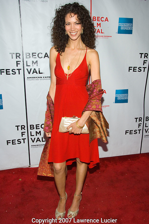 "Actress Mayra Radzinski arrives at the premiere of ""Business of Being Born"" April 29, 2007, at the Chelsea West Theater during the Tribeca Film Festival in New York City. The film documents the home birth of her son. (Pictured : MAYRA RADZINSKI)."
