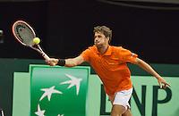 September 14, 2014, Netherlands, Amsterdam, Ziggo Dome, Davis Cup Netherlands-Croatia, Robin Haase (NED)<br /> Photo: Tennisimages/Henk Koster