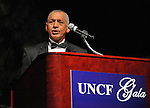 NASA Administrator Charles Bolden, Jr. speaks at the UNCF Gala at Von Braun Center North Hall Thursday evening.  Bob Gathany / The Huntsville Times