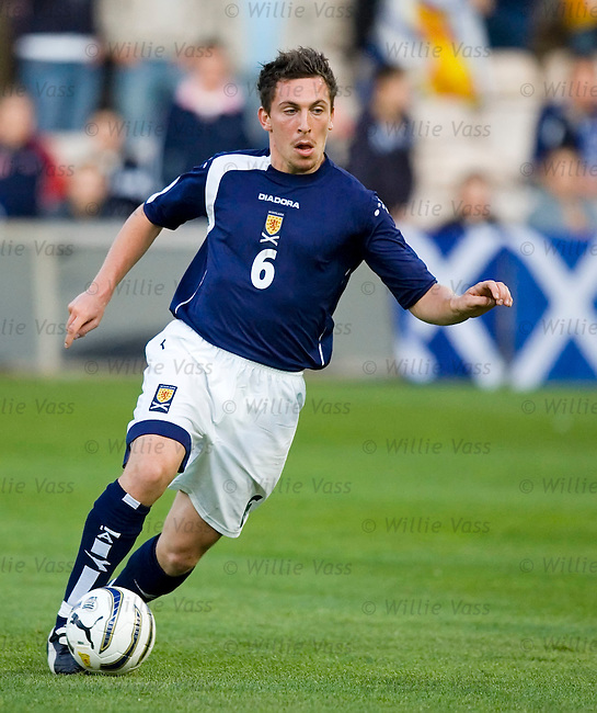 Scott Brown, Scotland u21.stock season 2005-2006.pic willie vass
