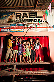 PHILIPPINES, Palawan, Puerto Princessa, group of kids at the Old Market in the City Port Area