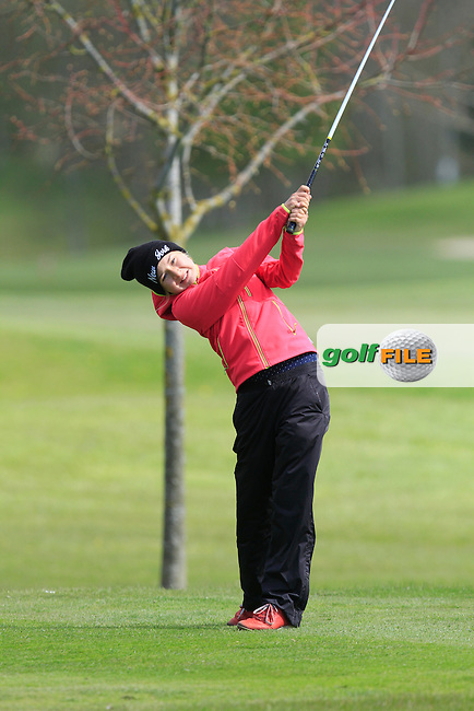Magdalena Cervinkova (CZE) on the 13th tee during Round 1 of The Irish Girls Open Strokeplay Championship in Roganstown Golf Club on Saturday 18th April 2015.<br />