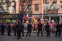 NEW YORK, NY - May 01:  Hundreds of people attend to the the May Day Strike and march for workers rights  .Labor unions and civil rights groups staged May Day rallies in several U.S. cities on Monday to denounce President Donald Trump's get-tough policy on immigrationIn New York City on May 01, 2017. Photo by VIEWpress/Maite H. Mateo.