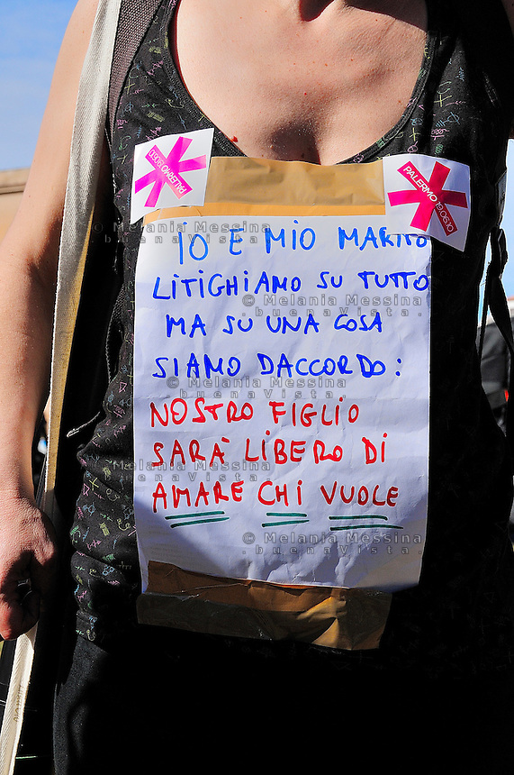 Palermo, first gay pride in Sicily.<br />