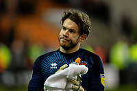 Blackpool's Chris Maxwell applauds the fans after the match<br /> <br /> Photographer Alex Dodd/CameraSport<br /> <br /> The EFL Sky Bet League One - Blackpool v Tranmere Rovers - Tuesday 10th March 2020 - Bloomfield Road - Blackpool<br /> <br /> World Copyright © 2020 CameraSport. All rights reserved. 43 Linden Ave. Countesthorpe. Leicester. England. LE8 5PG - Tel: +44 (0) 116 277 4147 - admin@camerasport.com - www.camerasport.com