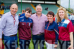 Causeway supporters pictured after the county hurling final  l-r: John Leen, Sean O'Hanlon, Maurice O'Hanlon, Joan Burke, and Roisin O'Hanlon