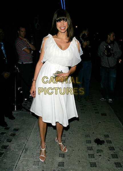 LISA BARBUSCIA.Arrivals at Jimmy Choo's 10th Anniversary Party during London Fashion Week, Tamarai, Drury Lane, London, England, September 18th 2006..full length white dress fringe b.Ref: AH.www.capitalpictures.com.sales@capitalpictures.com.©Adam Houghton/Capital Pictures.