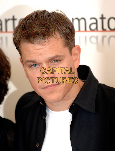 "MATT DAMON.photocall for ""The Bothers Grimm"".62nd International Film Festival,.Venice, 4th September 2005.portrait headshot La Biennale black shirt .Ref: PL.www.capitalpictures.com.sales@capitalpictures.com.©Capital Pictures."