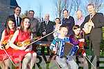 TUNING UP: Members of the Kilfenora Ceili Band and Milltown-Listry Comhaltas gathered on Saturday to promote their concert at the INEC on Easter Sunday, front l-r: Eimear Howley, Sinead Heagney, ... , /// . Back l-r: Anthony Quigney, Liam Hurley, Gary Shannon, Kathleen ???, Denis Courtney, Bernard Cronin, John Lynch.