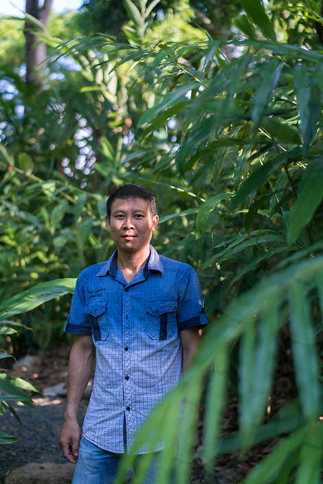 May 13, 2017 - Luang Prabang (Laos). Head Gardener Somdy Oudomsack poses for a portrait inside one of the garden. © Thomas Cristofoletti / Ruom