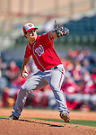 15 March 2016: Washington Nationals pitcher Michael Brady on the mound during a Spring Training pre-season game against the Houston Astros at Osceola County Stadium in Kissimmee, Florida. The Nationals defeated the Astros 6-4 in Grapefruit League play. Mandatory Credit: Ed Wolfstein Photo *** RAW (NEF) Image File Available ***