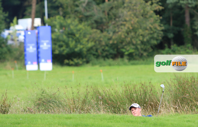 JR Galbraith (AM)(IRL) in a bunker on the 10th during Round 1 of the Northern Ireland Open at Galgorm Castle Golf Club, Ballymena Co. Antrim. 10/08/2017<br /> Picture: Golffile | Thos Caffrey<br /> <br /> <br /> All photo usage must carry mandatory copyright credit     (&copy; Golffile | Thos Caffrey)