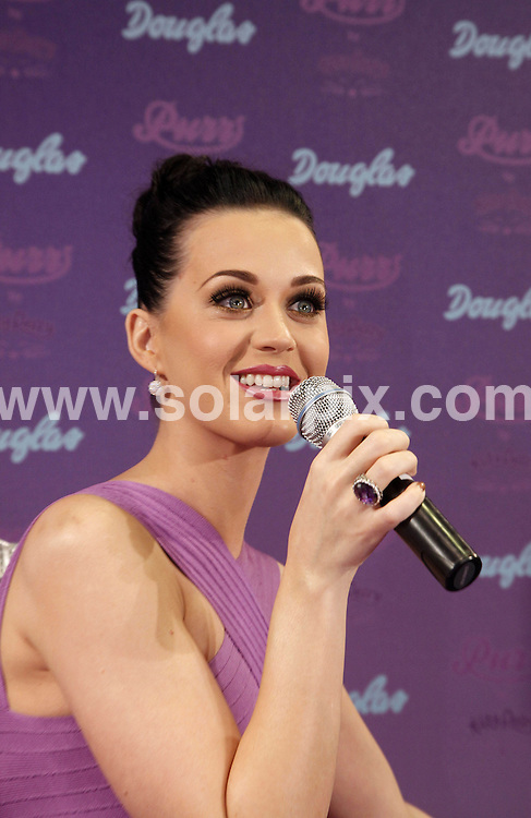 "**ALL ROUND PICTURES FROM SOLARPIX.COM**                                             **SYNDICATION RIGHTS FOR UK, AUSTRALIA, DENMARK, PORTUGAL, S. AFRICA, SPAIN & DUBAI (U.A.E) & ASIA (EXCLUDING JAPAN) ONLY**                                                                                  Caption: Katy Perry's ""Purr"" Fragrance Launch at Douglas Shop in Cologne at Douglas Shop  Cologne, Germany                                                                                This pic:Katy Perry                                                                                              JOB REF: 12953       PHZ       DATE: 11.03.2011                                                           **MUST CREDIT SOLARPIX.COM OR DOUBLE FEE WILL BE CHARGED**                                                                      **MUST AGREE FEE BEFORE ONLINE USAGE**                               **CALL US ON: +34 952 811 768 or LOW RATE FROM UK 0844 617 7637**"