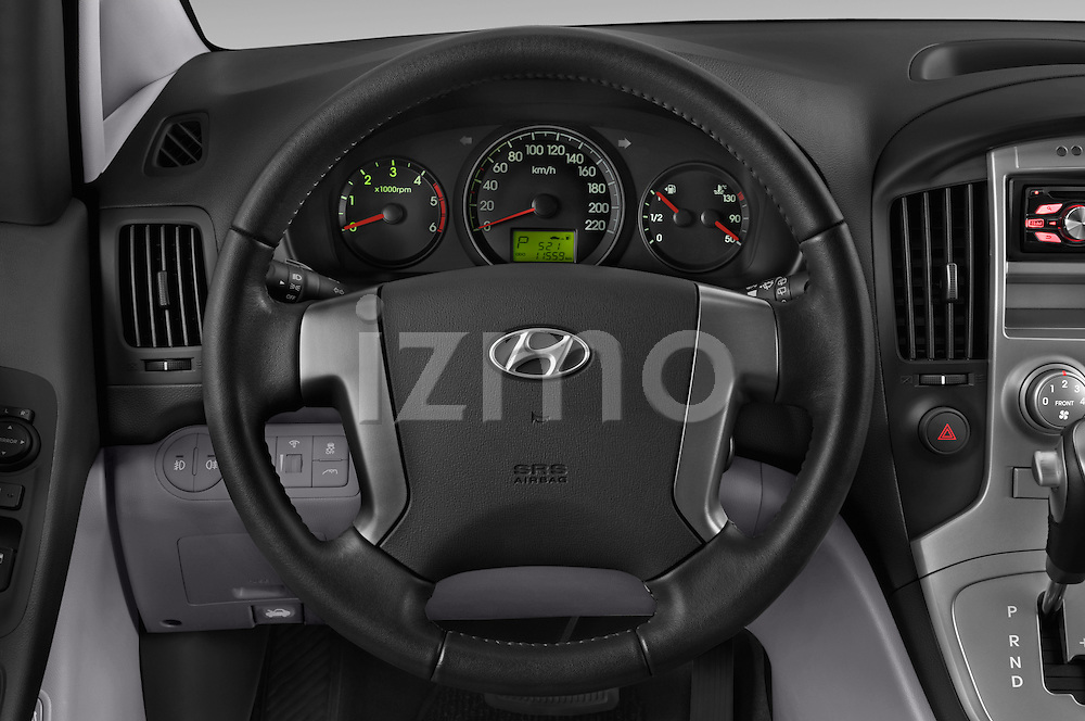 Car pictures of steering wheel view of a 2015 Hyundai H-1 People Executive 5 Door Passenger Van Steering Wheel