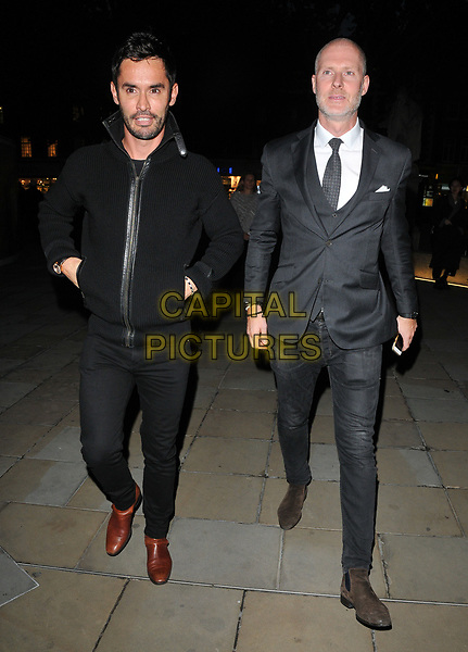 Jean-Bernard Fernandez-Versini and Jean-David Malat at the Philip Colbert New Paintings private view, Saatchi Gallery, King's Road, London, England, UK, on Monday 02 October 2017.<br /> CAP/CAN<br /> &copy;CAN/Capital Pictures