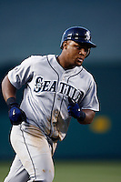 Adrian Beltre of the Seattle Mariners during a game from the 2007 season at Angel Stadium in Anaheim, California. (Larry Goren/Four Seam Images)