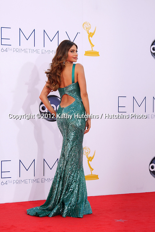 LOS ANGELES - SEP 23:  Sofia Vergara arrives at the 2012 Emmy Awards at Nokia Theater on September 23, 2012 in Los Angeles, CA