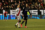Rayo Vallecano's Raul de Tomas and CD Leganes's Diego Reyes during La Liga match between Rayo Vallecano and CD Leganes at Vallecas Stadium in Madrid, Spain. February 04, 2019. (ALTERPHOTOS/A. Perez Meca)