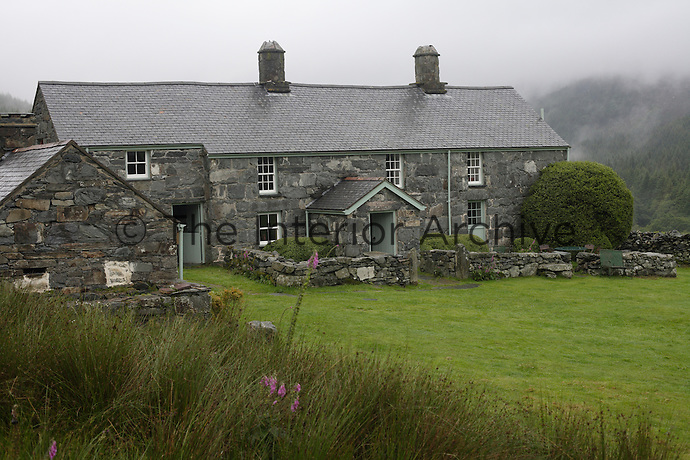 Exterior of Garth Gell seen from across the front garden