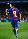 Suarez, FC Barcelona 2 v 0 Espanyol, 1/4 de final en la vuelta de la Copa de SM El Rey 2018, Estadio Camp Nou, Barcelona. Photo Martin Seras Lima