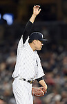 Masahiro Tanaka (Yankees), JUNE 9, 2015 - MLB : New York Yankees starting pitcher Masahiro Tanaka cares his arm during a baseball game against the Washington Nationals at Yankee Stadium in New York, United States. (Photo by AFLO)