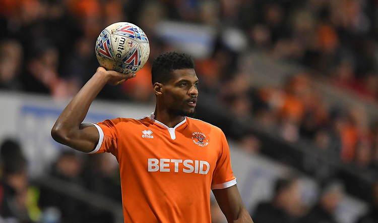 Blackpool's Michael Nottingham<br /> <br /> Photographer Dave Howarth/CameraSport<br /> <br /> The EFL Sky Bet League One - Blackpool v Doncaster Rovers - Tuesday 12th March 2019 - Bloomfield Road - Blackpool<br /> <br /> World Copyright © 2019 CameraSport. All rights reserved. 43 Linden Ave. Countesthorpe. Leicester. England. LE8 5PG - Tel: +44 (0) 116 277 4147 - admin@camerasport.com - www.camerasport.com