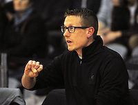 Westlake coach Carl Stent during the 2014 National Secondary Schools Basketball Championship AA boys' semifinal between Westlake Boys' High School and St Patrick's College Town at Arena Manawatu, Palmerston North, New Zealand on Friday, 3 October 2014. Photo: Dave Lintott / lintottphoto.co.nz