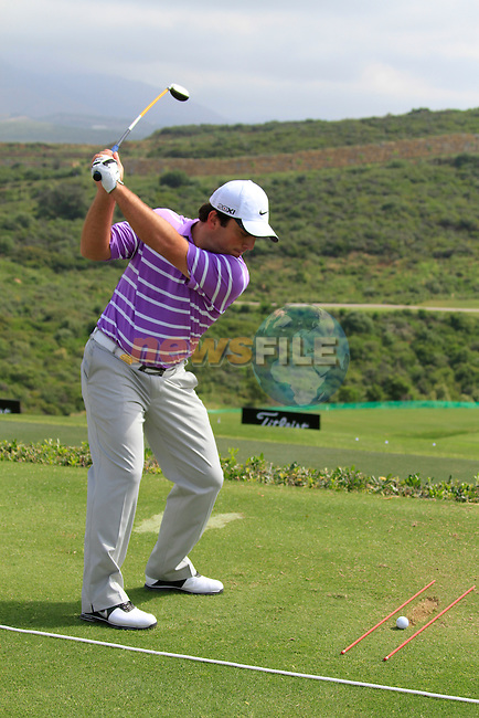 Francesco Molinari (ITA) in action on the practice range during Day 1 of the Volvo World Match Play Championship in Finca Cortesin, Casares, Spain, 19th May 2011. (Photo Eoin Clarke/Golffile 2011)