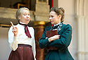 Blue Stockings by Jesscia Swale . A Shakespeare's Globe Production directed by John Dove. With  Gabriella Lloyd as Mrs Welsh, Ellie Piercy as Tess. Opens at Shakespeare's Globe Theatre  on 29/8/13  pic Geraint Lewis